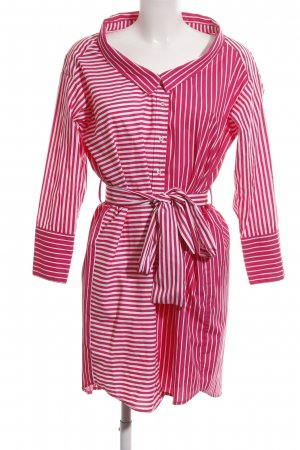 Zara Basic Hemdblusenkleid rot-weiß Streifenmuster Casual-Look
