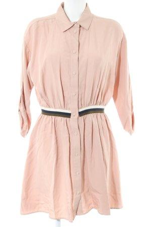 Zara Basic Abito blusa camicia color carne stile casual