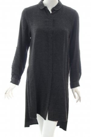 Zara Basic Hemdblusenkleid anthrazit minimalistischer Stil