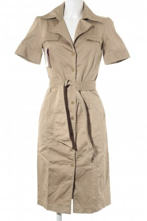 Zara Basic Robe chemise beige style safari