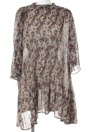 Zara Basic Hemdblusenkleid Blumenmuster Casual-Look
