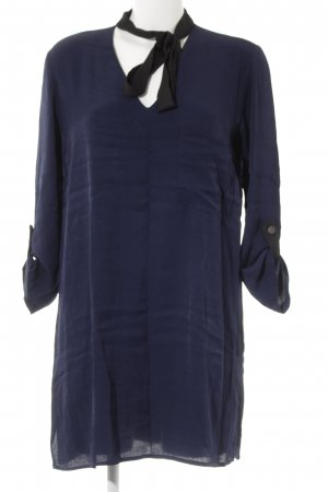 Zara Basic Shirtwaist dress dark blue casual look