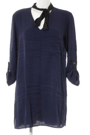 Zara Basic Hemdblousejurk donkerblauw casual uitstraling