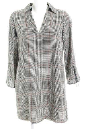 Zara Basic Hemdblusenkleid Glencheckmuster Casual-Look