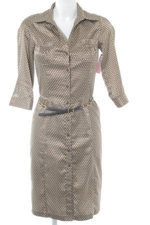 Zara Basic Hemdblusenkleid grafisches Muster Elegant
