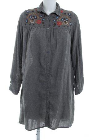 Zara Basic Hemdblousejurk grijs casual uitstraling