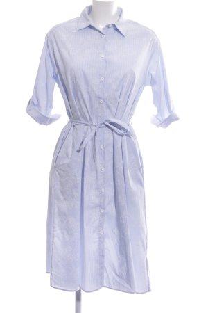 Zara Basic Abito blusa camicia azzurro-bianco motivo floreale stile classico