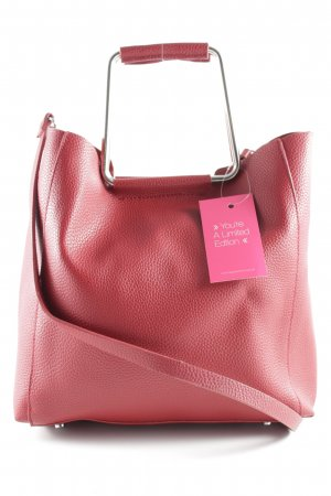 Zara Basic Carry Bag dark red classic style
