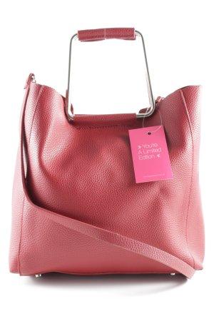 Zara Basic Bolso barrel rojo oscuro estilo clásico