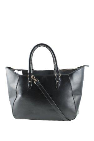 Zara Basic Henkeltasche schwarz Casual-Look