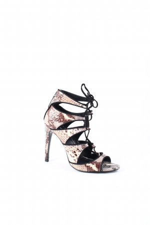 Zara Basic High Heel Sandal animal pattern party style