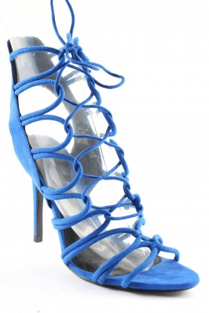 Zara Basic High Heel Sandal blue elegant