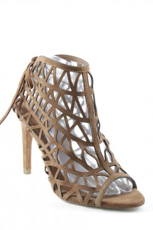 Zara Basic High Heel Sandal cognac-coloured graphic pattern extravagant style