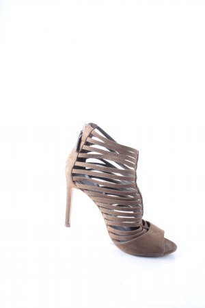 Zara Basic High Heel Sandal light brown party style
