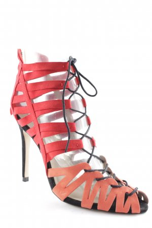 Zara Basic High Heel Sandaletten hellrot-orange Street-Fashion-Look
