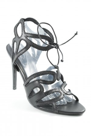 Zara Basic High Heel Sandal black elegant