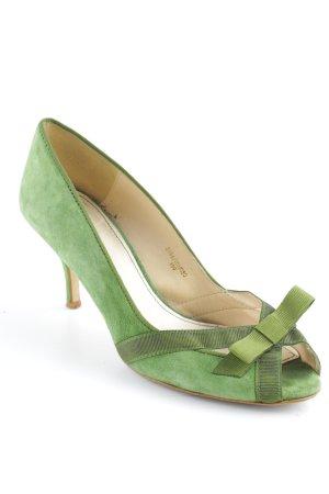 Zara Basic High Heels grasgrün Casual-Look