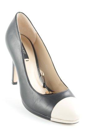 Zara Basic High Heels schwarz-beige Casual-Look