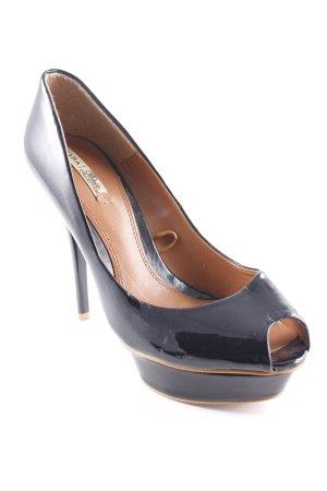 Zara Basic High Heels schwarz-braun Elegant