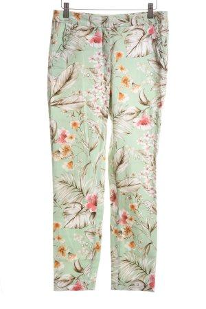 Zara Basic High Waist Trousers flower pattern casual look