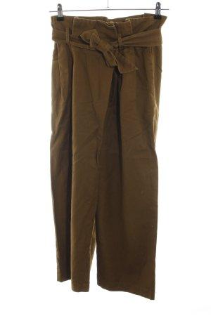 Zara Basic Hoge taille broek brons casual uitstraling