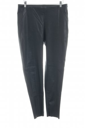 Zara Basic High-Waist Hose schwarz Biker-Look