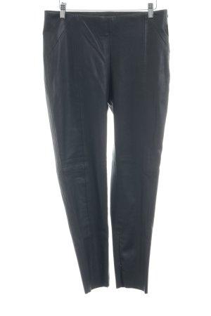 Zara Basic High Waist Trousers black biker look