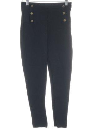 Zara Basic High Waist Trousers black simple style