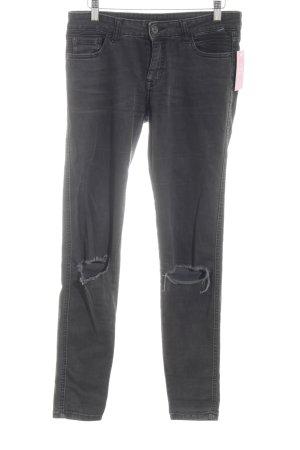 Zara Basic High Waist Jeans hellgrau Casual-Look