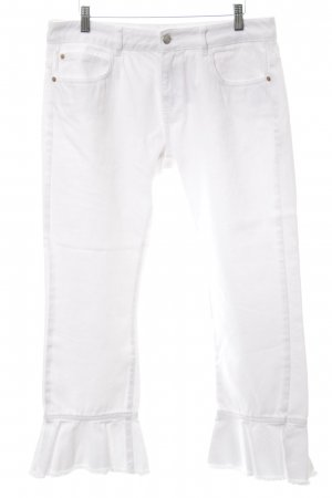 Zara Basic Hoge taille jeans wit casual uitstraling