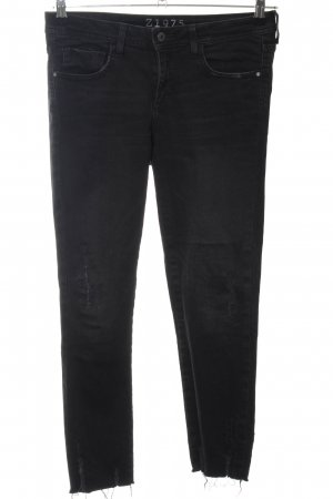 Zara Basic High Waist Jeans schwarz Casual-Look
