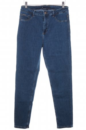 Zara Basic High Waist Jeans blau Casual-Look