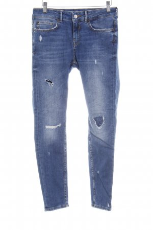 Zara Basic High Waist Jeans dunkelblau Casual-Look