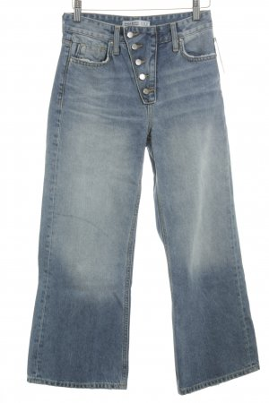 Zara Basic High Waist Jeans himmelblau Retro-Look