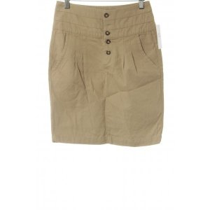 Zara Basic High Waist Rock beige Business-Look