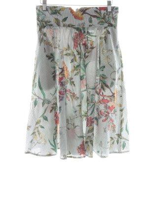 Zara Basic Falda de talle alto estampado floral estilo sencillo