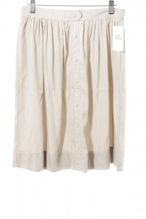 Zara Basic High Waist Rock hellbeige Casual-Look