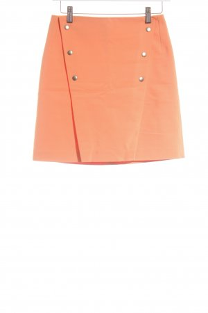 Zara Basic High Waist Skirt orange extravagant style