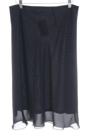 Zara Basic High Waist Rock schwarz minimalistischer Stil