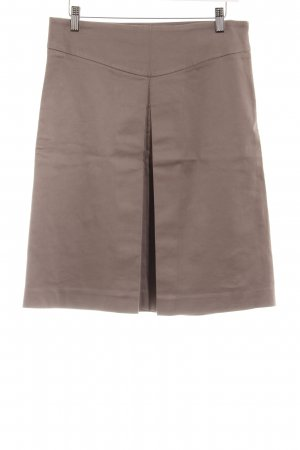Zara Basic High Waist Rock taupe klassischer Stil