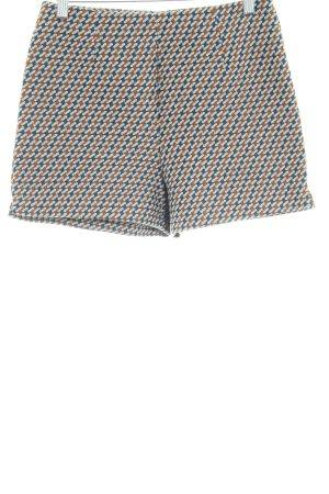 Zara Basic High-Waist-Shorts abstraktes Muster Casual-Look