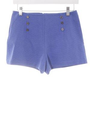 Zara Basic High-Waist-Shorts blau Casual-Look