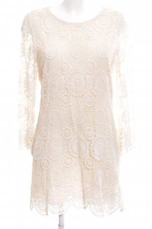 Zara Basic Robe Hippie blanc cassé motif abstrait élégant