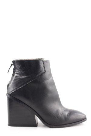 Zara Basic Pumps met hoge zool zwart zakelijke stijl