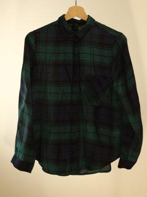 Zara Basic Camicia da boscaiolo multicolore Poliestere