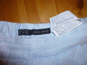 Zara Basic Falda pantalón azul celeste
