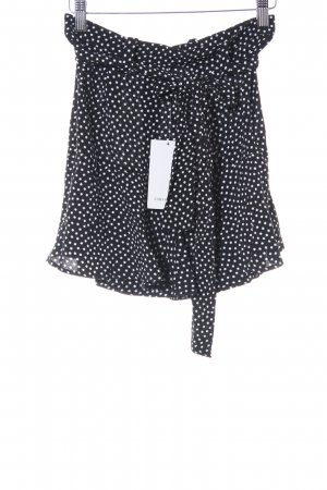 Zara Basic Culotte Skirt black-white star pattern elegant