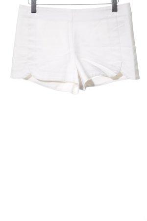 Zara Basic Hot Pants weiß Casual-Look