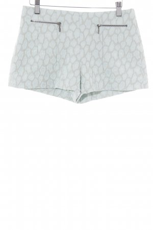 Zara Basic Hot Pants hellblau-hellgrau Animalmuster Animal-Look