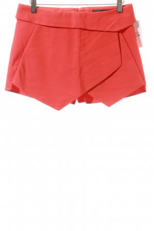 Zara Basic Hot Pants neonorange schlichter Stil